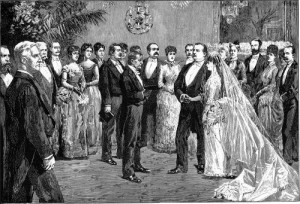 """""""The President's Wedding"""" from Harper's Weekly, June 2, 1886"""